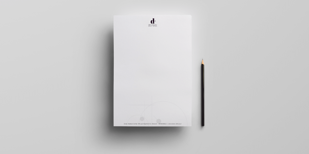 עיצוב נייר משרדים מיתוג מרפאות שיניים אהוי דולב