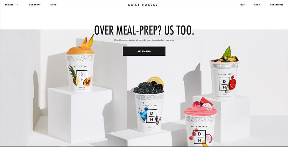Daily Harvest - Landing Page