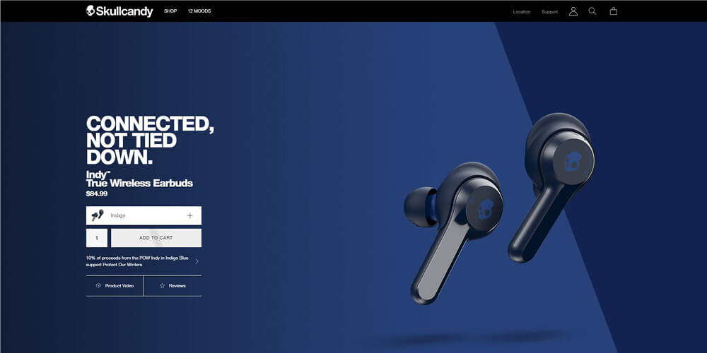 skullcandy - landing page - main hero